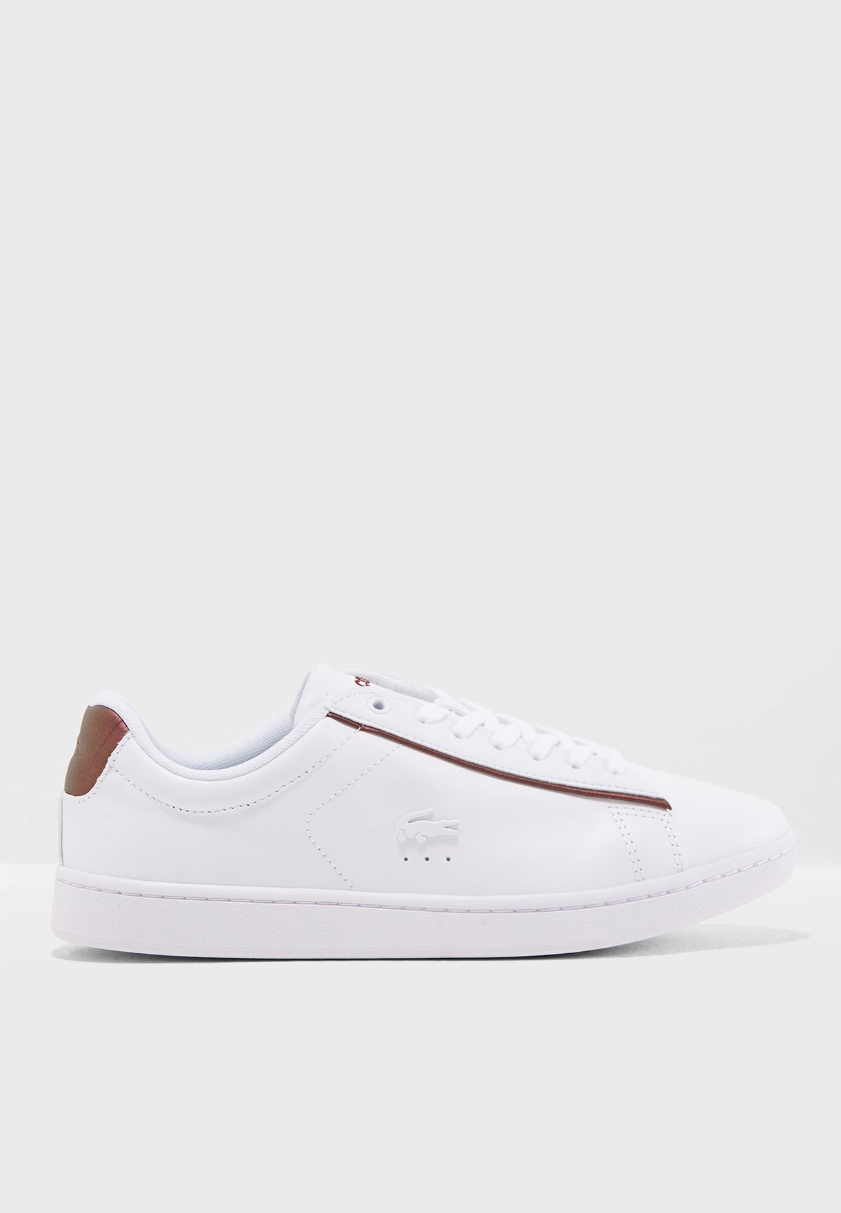 97caae1b2a1408 Shop Lacoste white Carnaby Evo 318 7 Spw Sneaker 736SPW0042 for ...