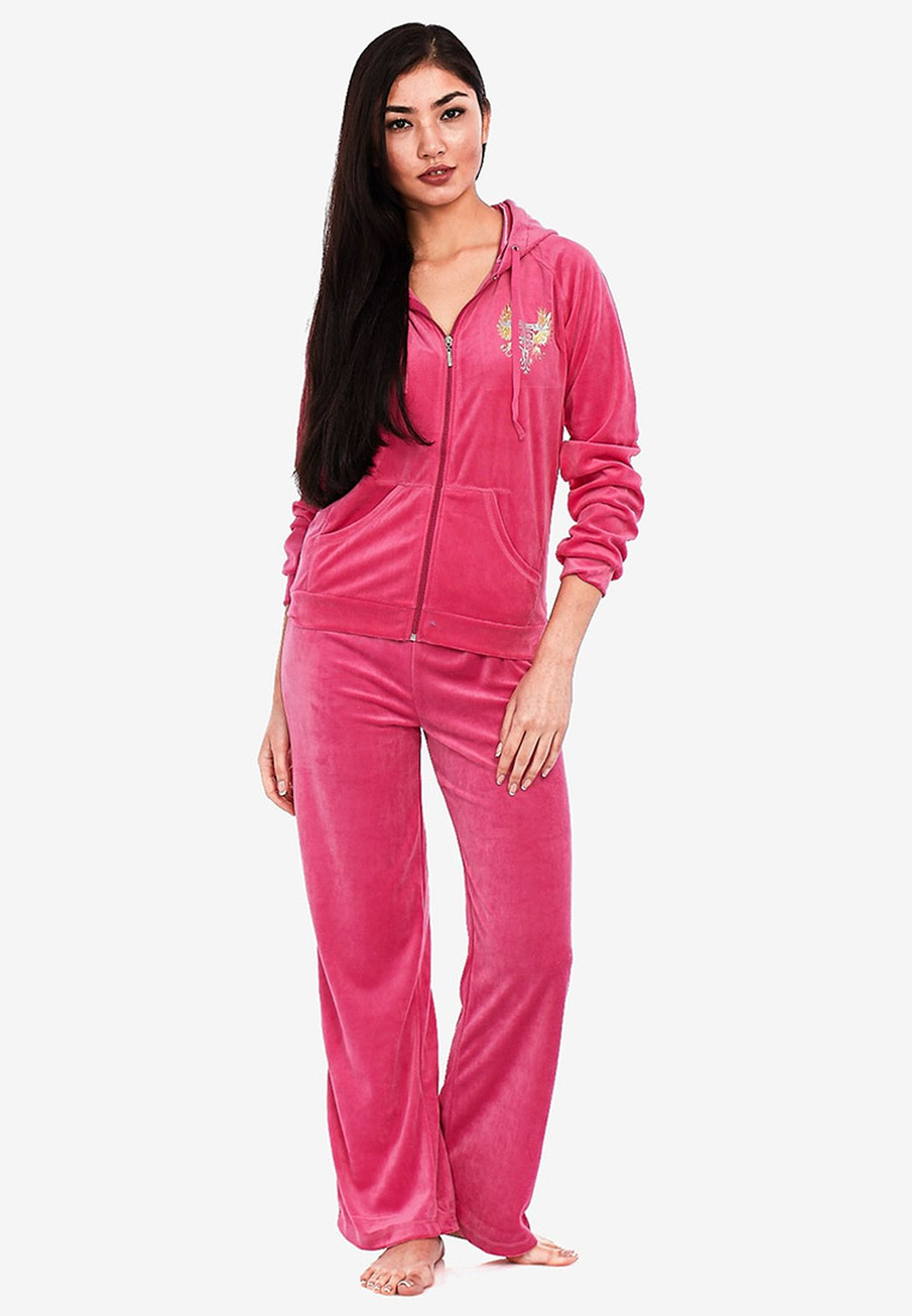 Buy Body Blues Pink Velour Tracksuit For Women In Mena Worldwide Globally Bo468at92zcd