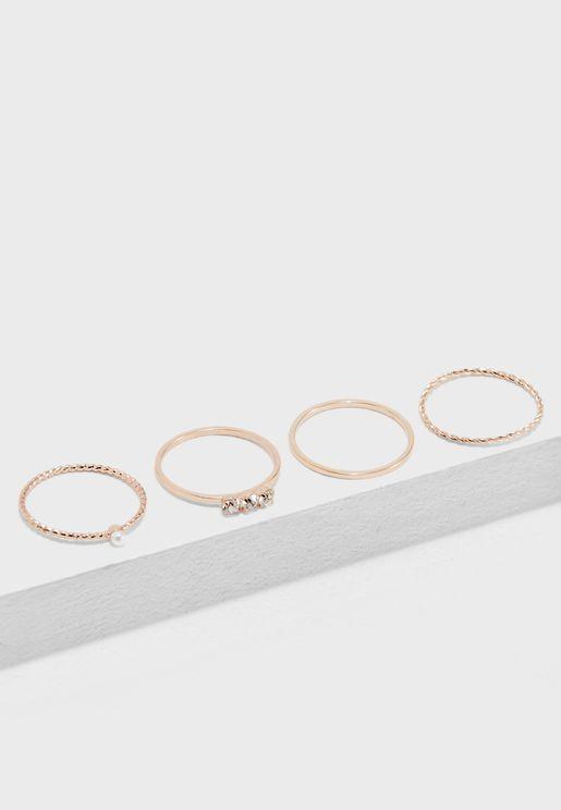 Rhinestone Ring Set