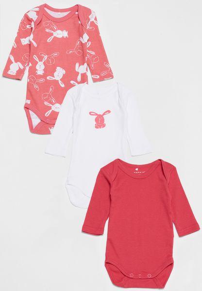 Infant 3 Pack Curved Bodysuits