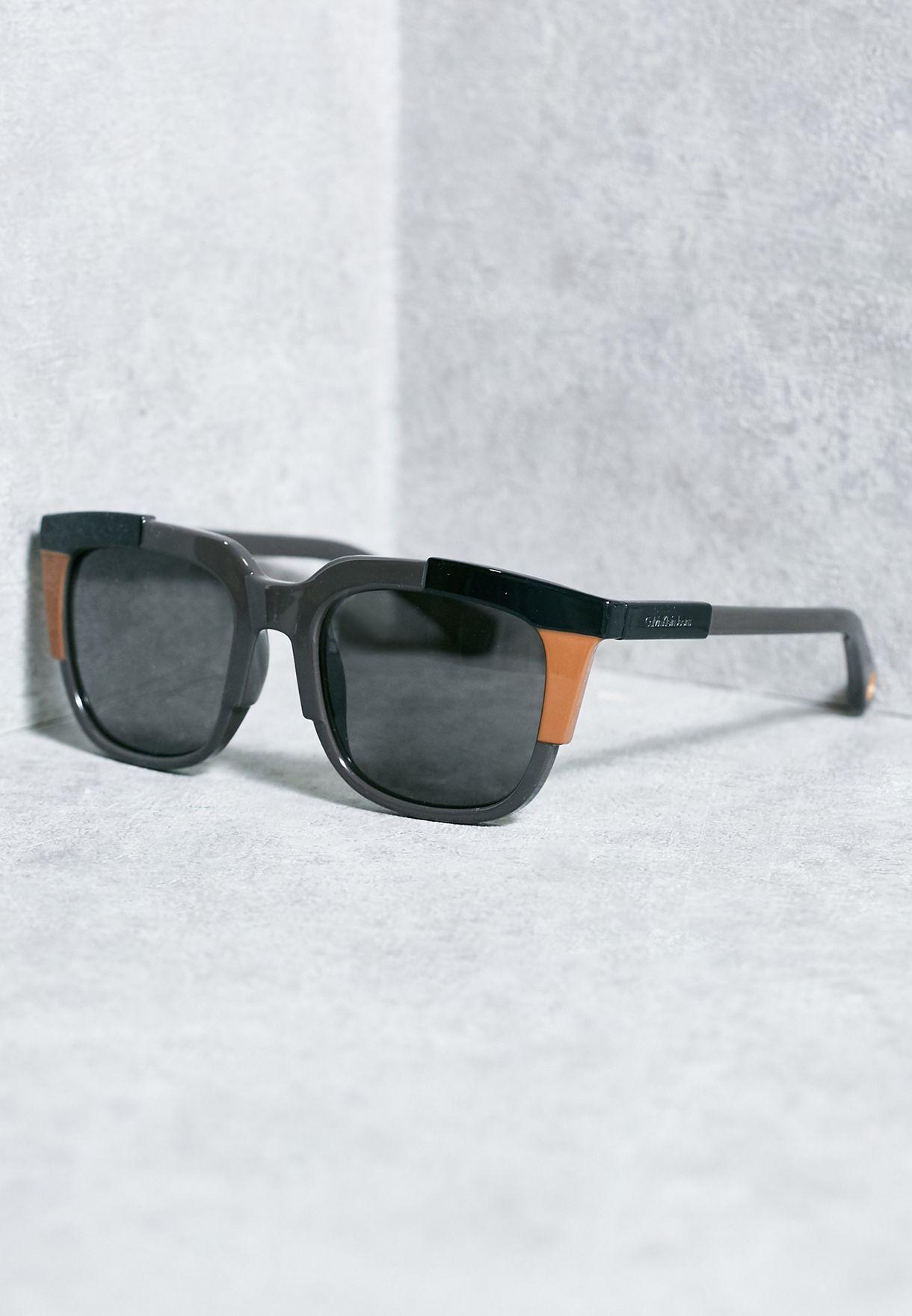 3be586478 تسوق نظارة شمسية كاجوال ماركة كالفن كلاين جينز لون رمادي CKJ797S في ...