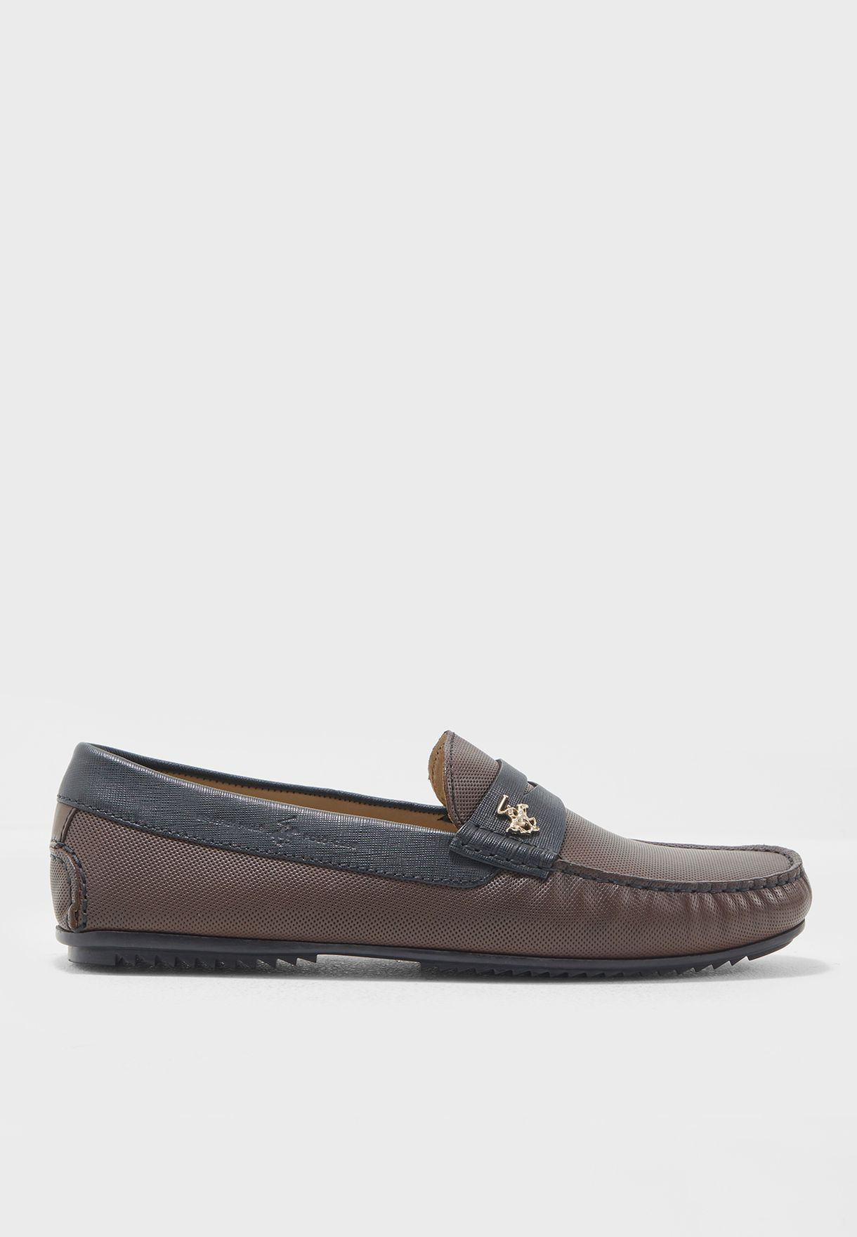 967d7f03e94 Shop Beverly Hills Polo Club browns Leather Loafers BP SH9129 for Men in  Saudi - BH916SH92QXB