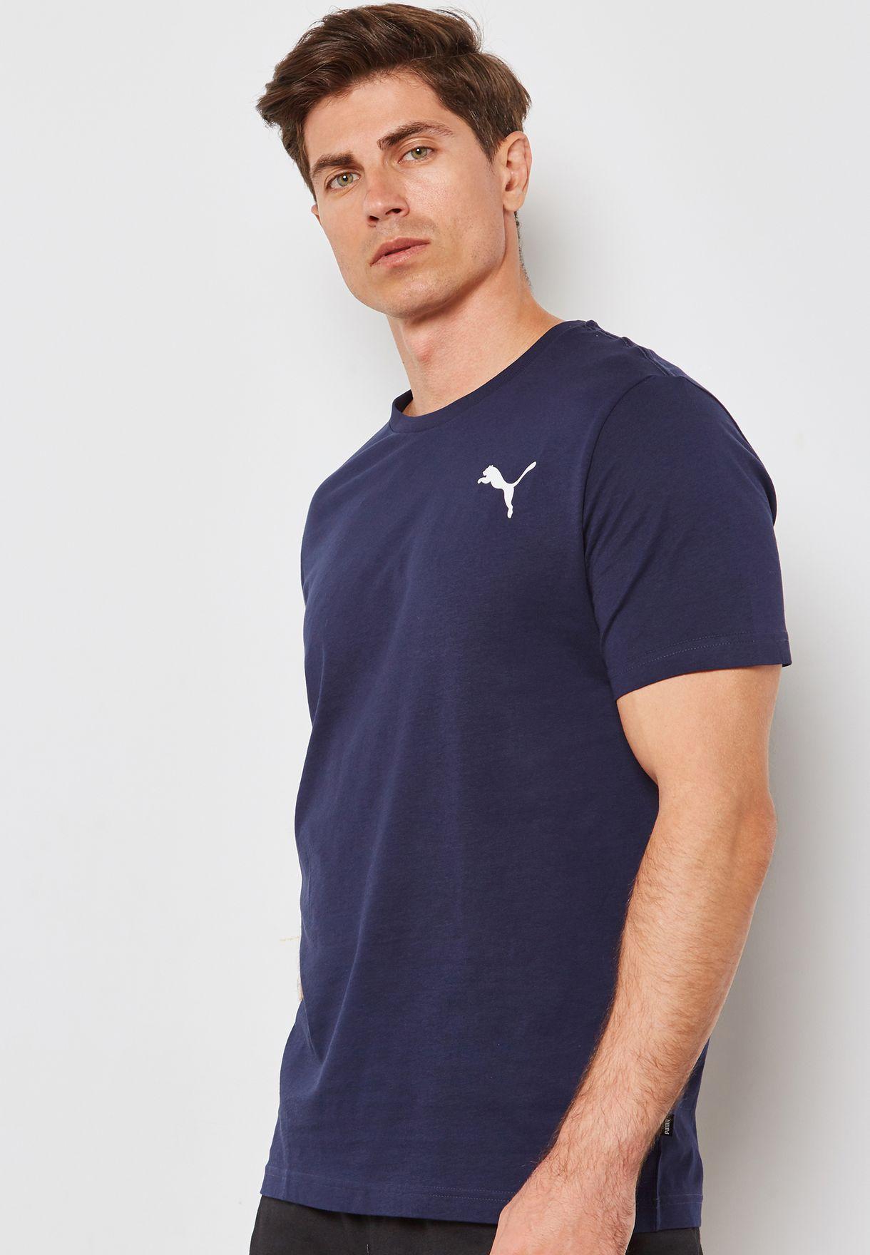 2a2c524fa5c Shop PUMA navy Essential Small Logo T-Shirt 85174126 for Men in UAE ...