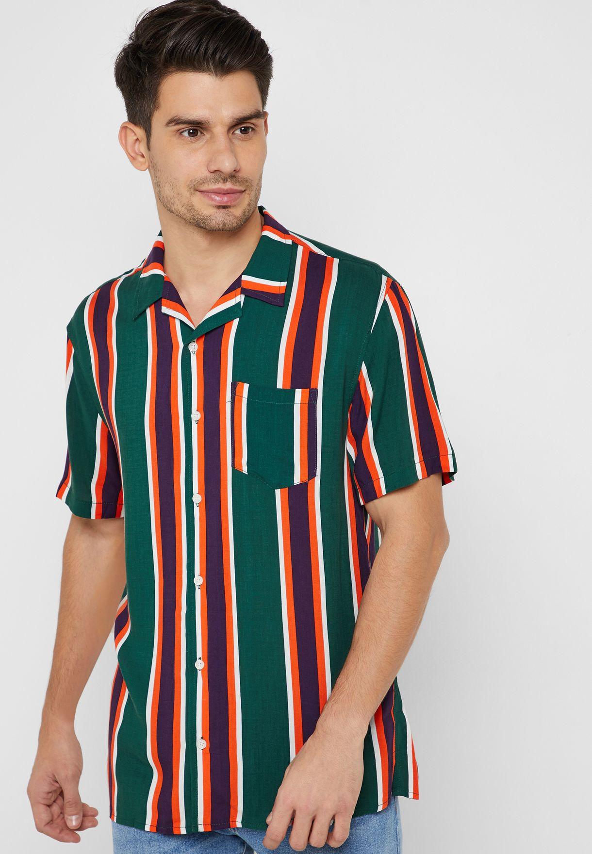 b4c8cc83de0d Shop Cotton On prints Festival Striped Shirt 362700-28 for Men in ...