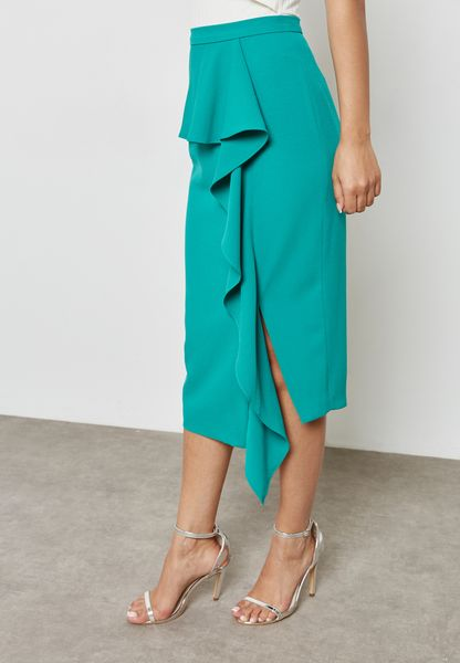 Pleated Detail Skirt