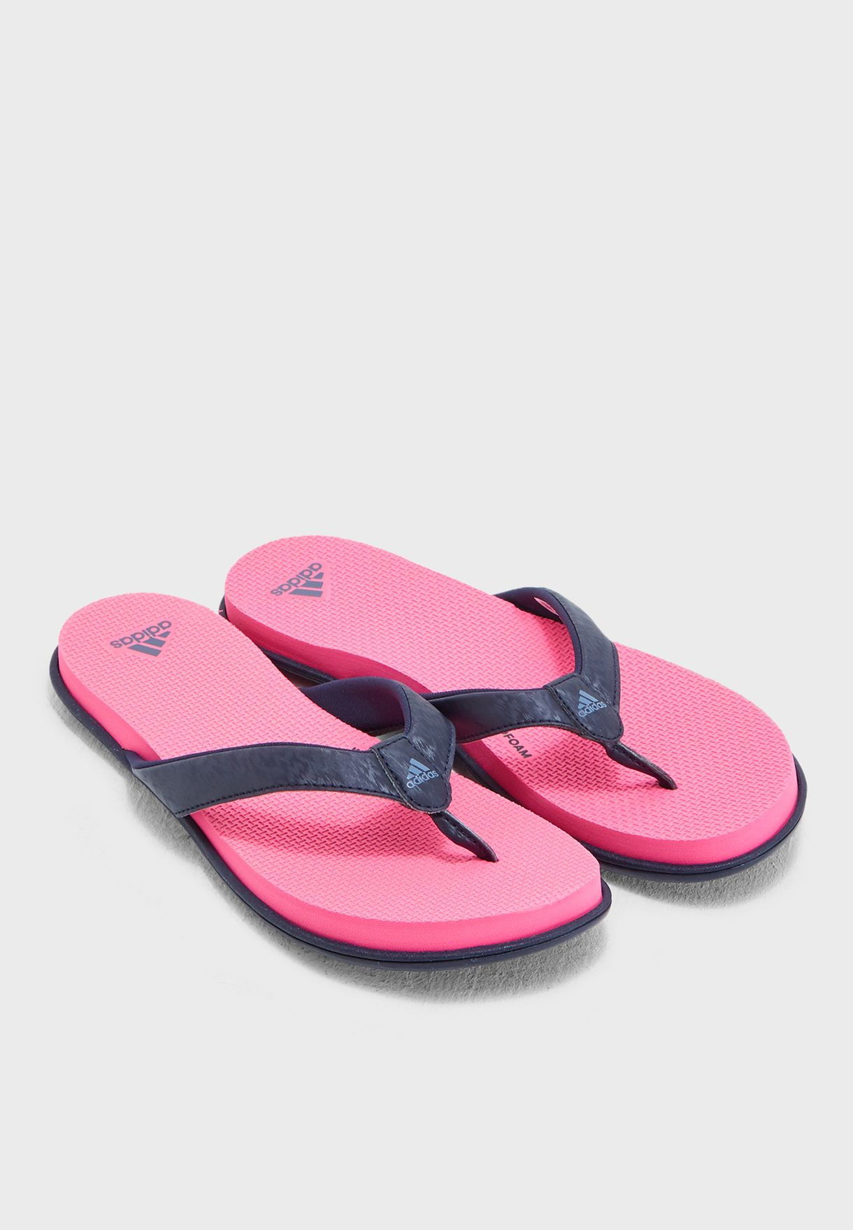383a5db00 Shop adidas pink Cloudfoam Flip Flop B43600 for Women in UAE ...