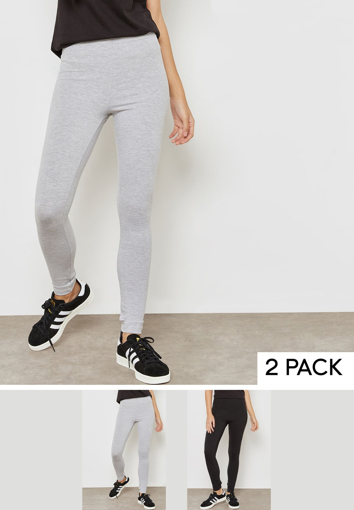 2 Pack Essential Leggings