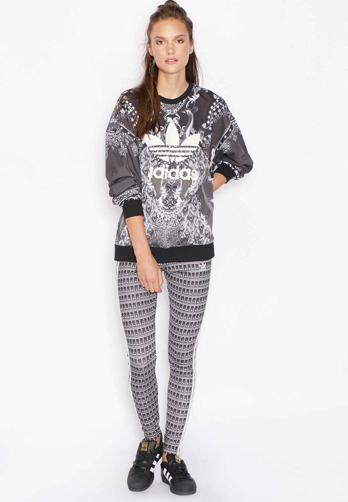 46453271adcfca Shop adidas Originals grey Pavao Leggings AY6875 for Women in UAE ...