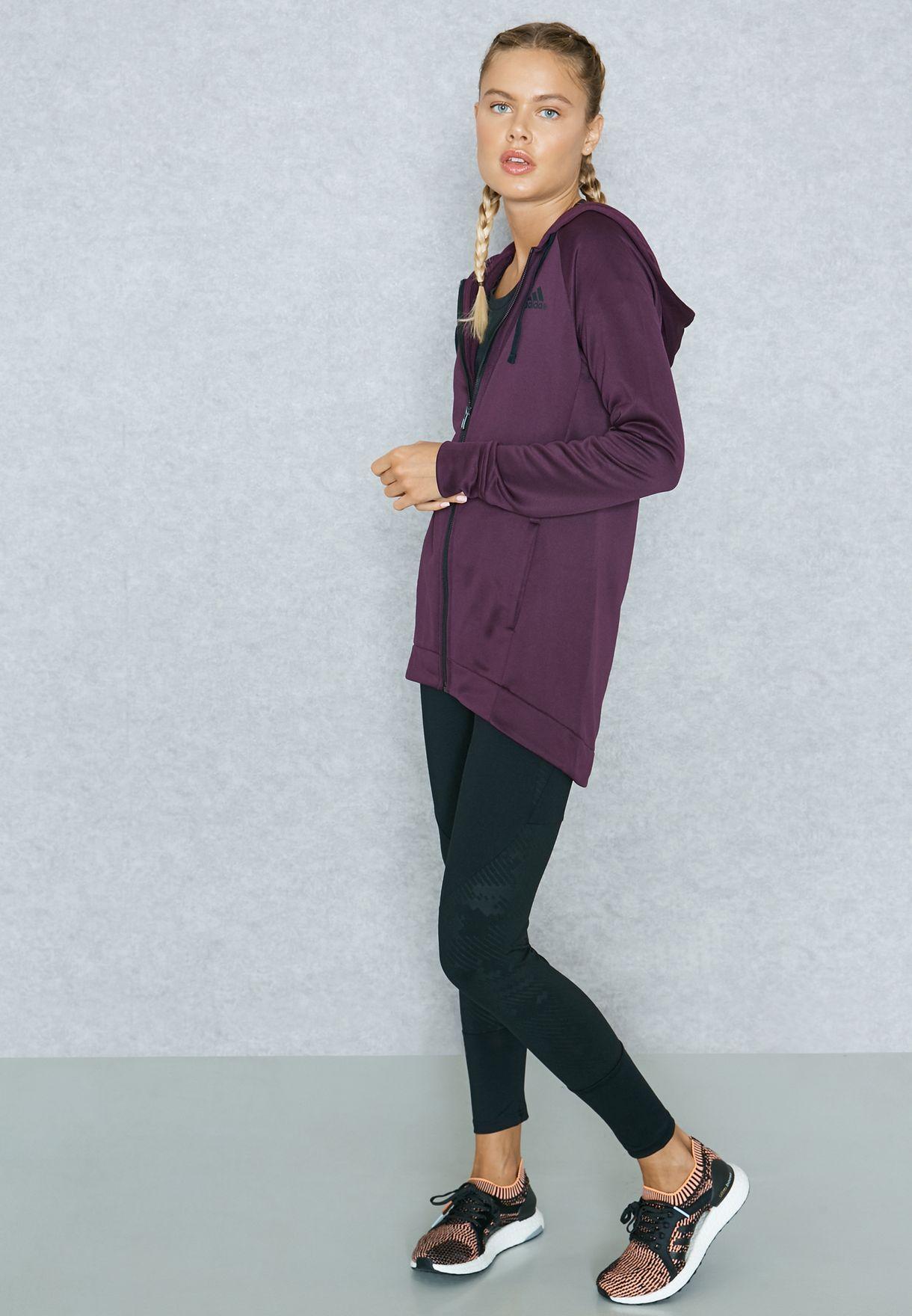 e2ebcfa4e17 Shop adidas multicolor Full Zip Hoodie & Tights Set BQ8384 for ...