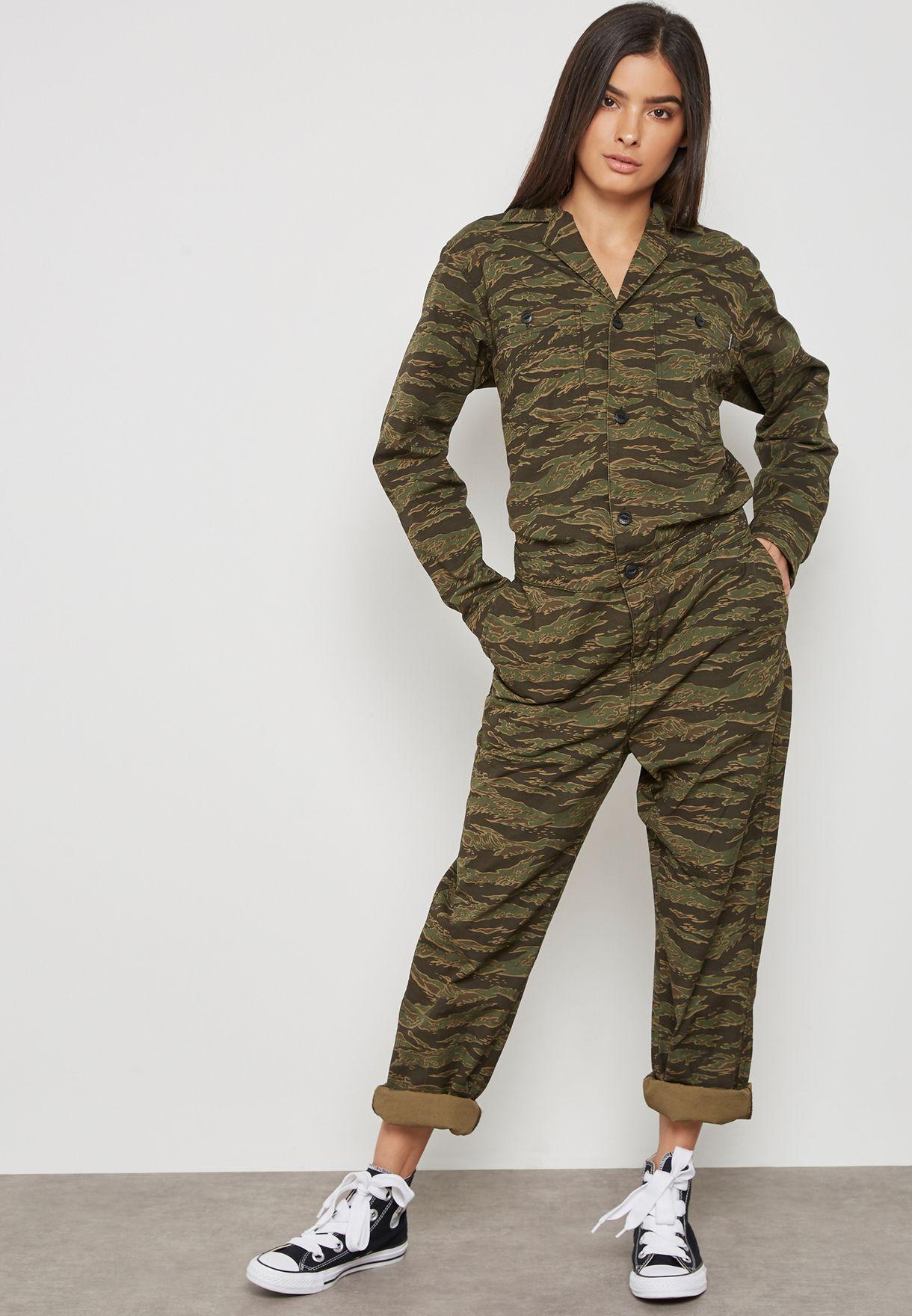 Camo Print Jumpsuit