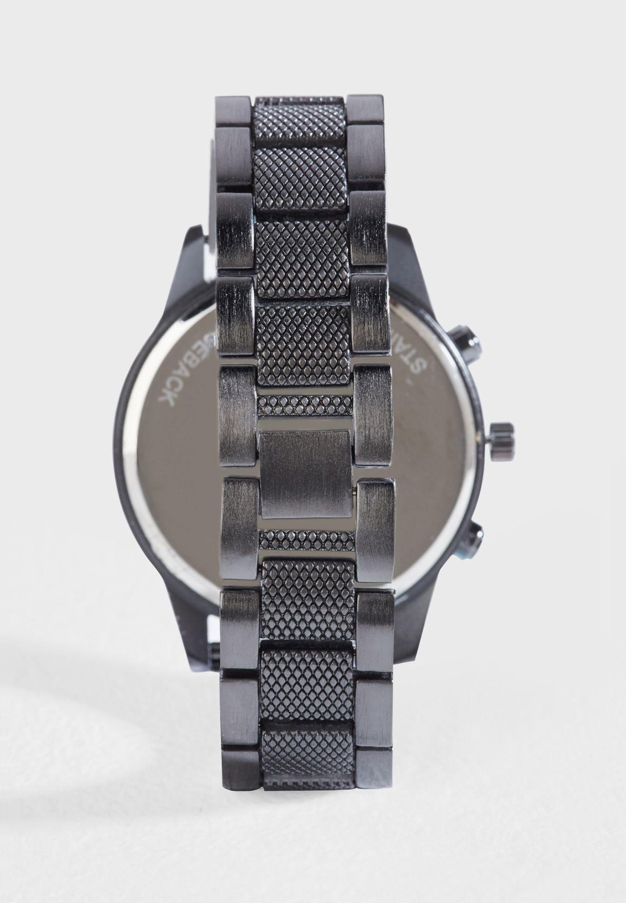 Metal Strap Analogue Watch