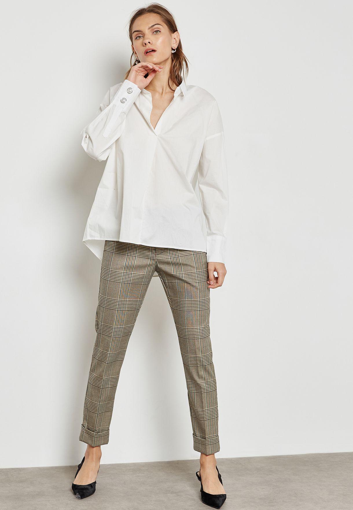 Pearl Cuffed Shirt