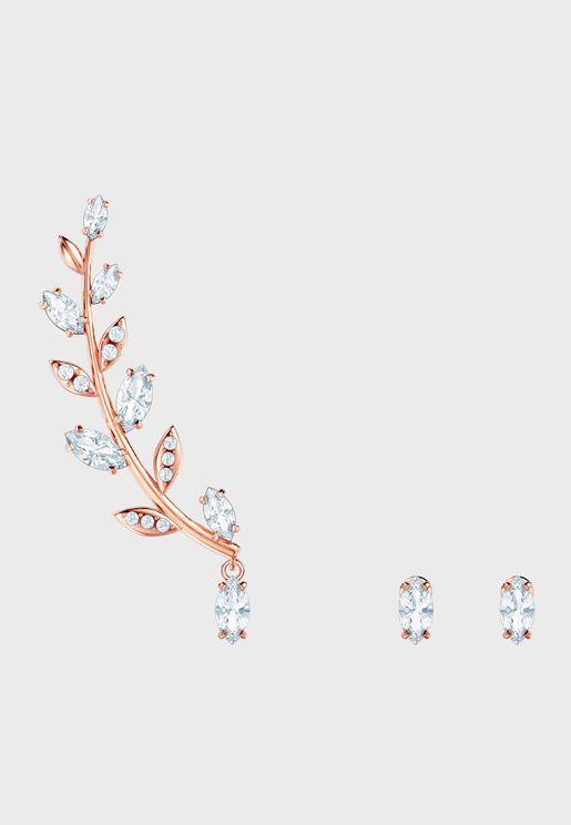 Mayfly Pe Asym Drop Earrings