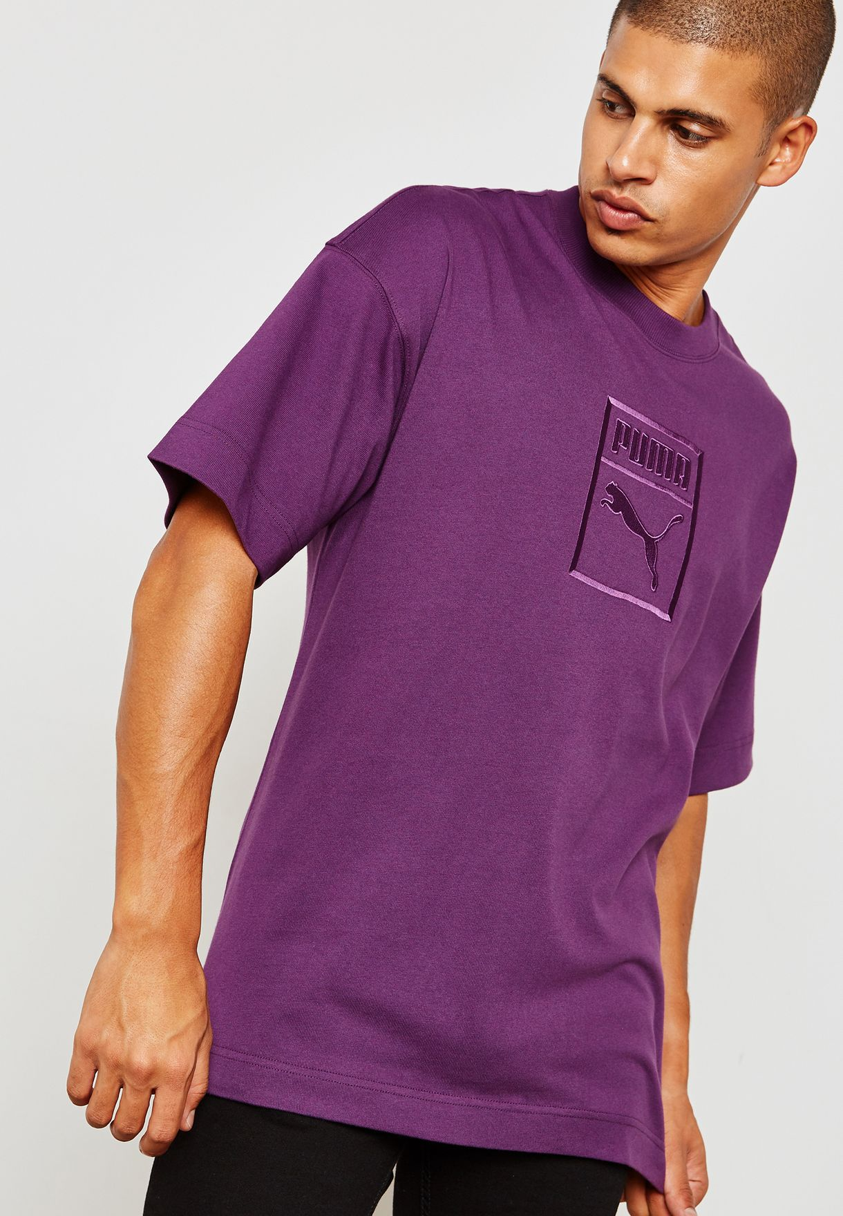 516f7474f98d Shop PUMA purple Downtown T-Shirt 57671216 for Men in UAE - PU020AT92ERN