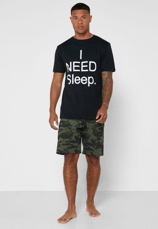 I Need Sleep Pyjama Set