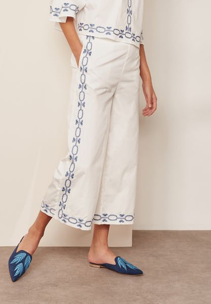 Embroidered Culottes
