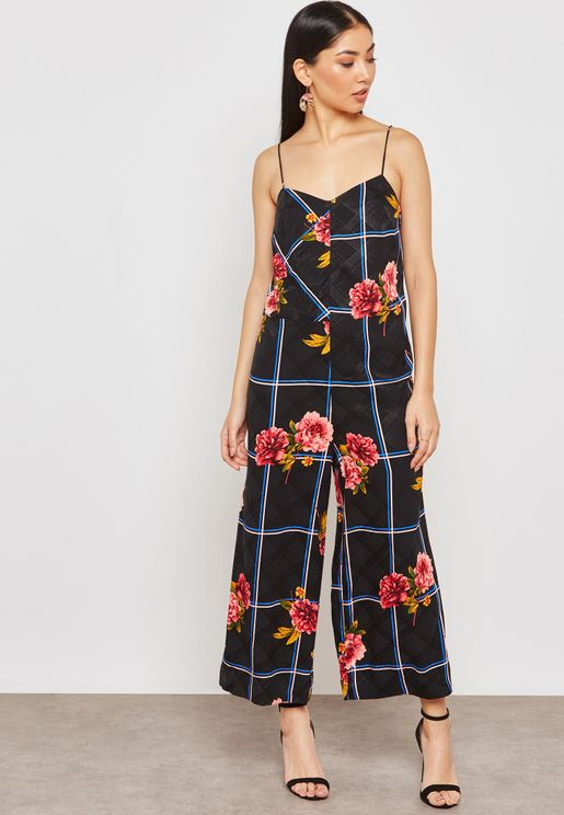 a949ad4ef0 Checked Floral Jumpsuit. TODAY S DEAL. Topshop