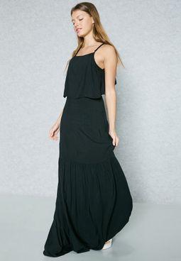 Mango thigh split maxi dress