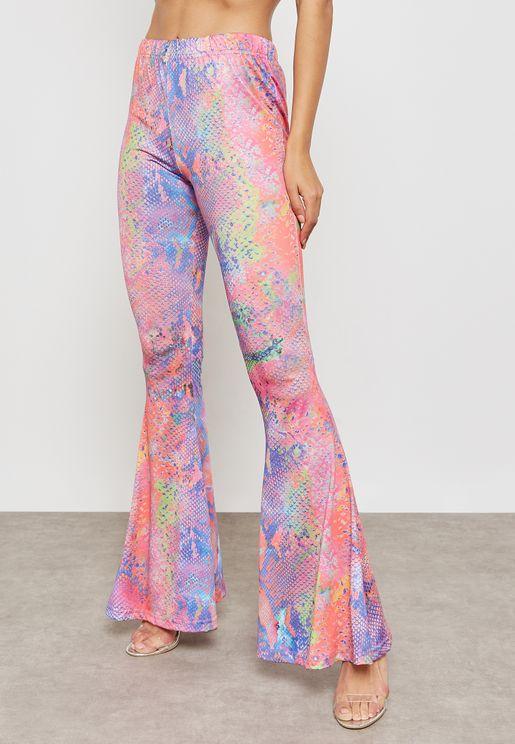 Snake Print Pants