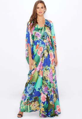 Anaya Floral Printed Detailed Kaftan