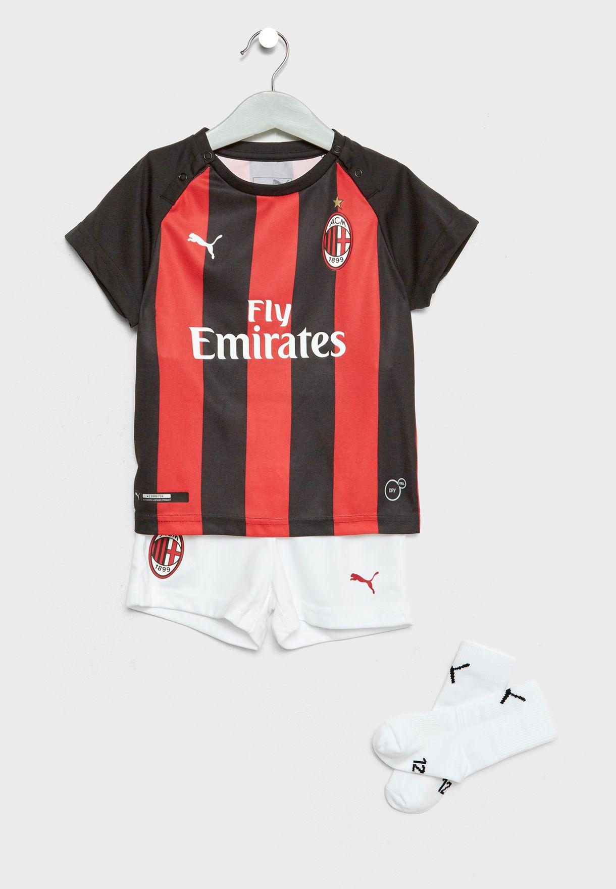 44365b83c14 Shop PUMA multicolor Infant AC Milan Home 18/19 Kit 75444106 for ...