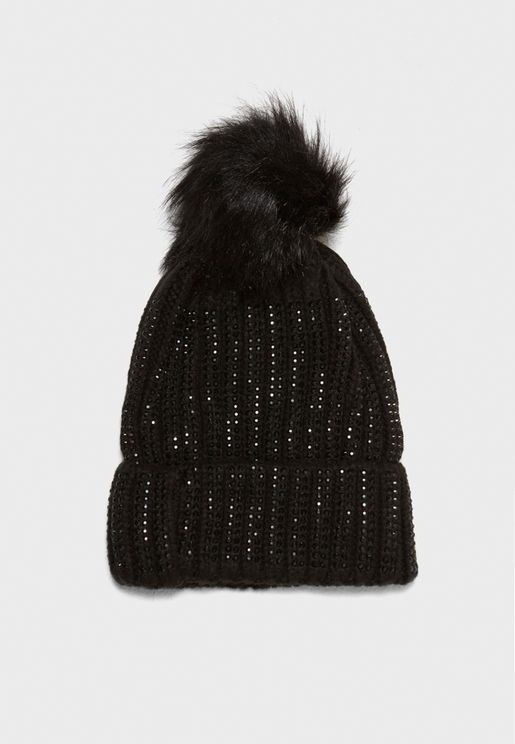 All Over Heat Seal Bobble  Beanie