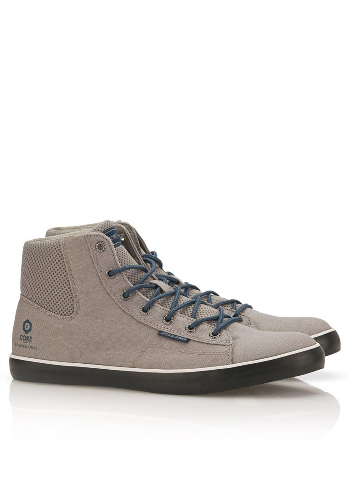 53b59c94eeb5c Shop Jack Jones grey JJ Cardiff Mesh H Core Sneakers for Men in Kuwait -  JA872SH92KUX