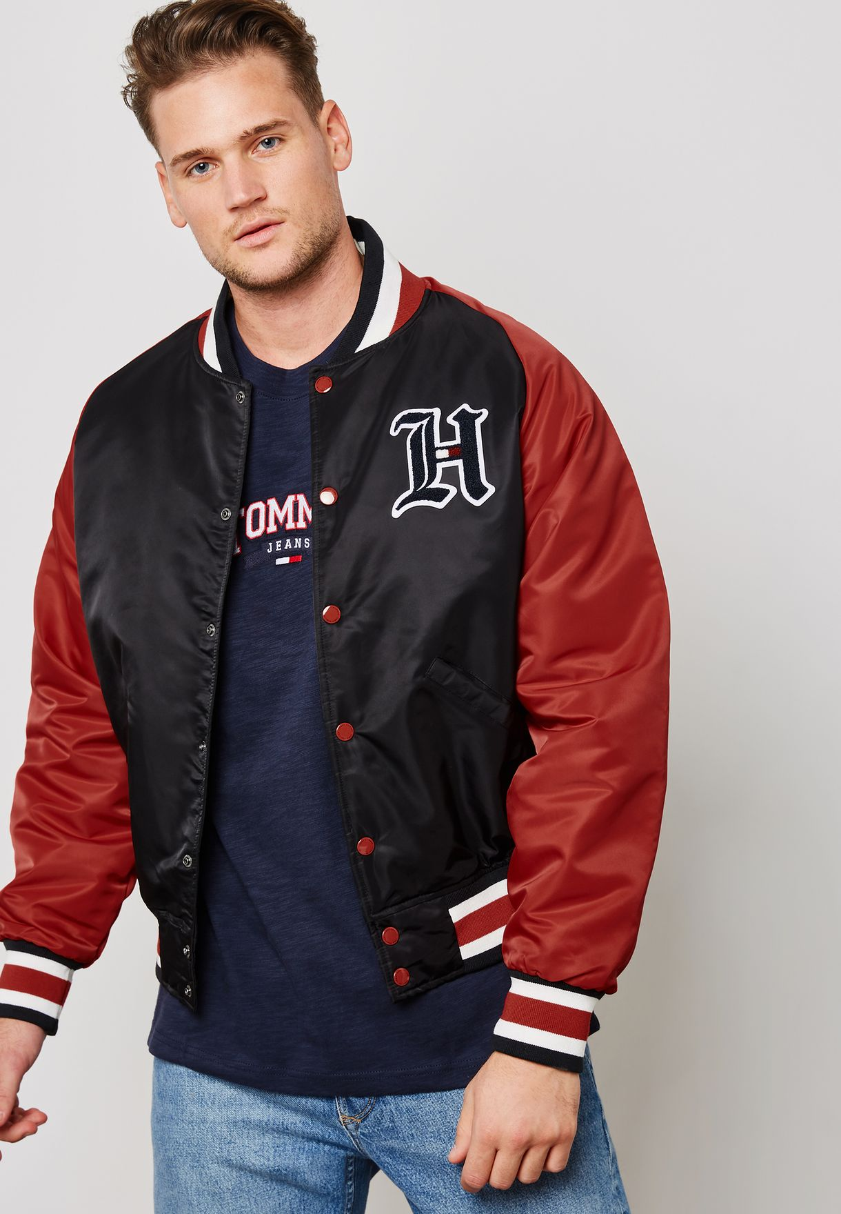 336b8e1d5a2b59 Shop Tommy Hilfiger multicolor Lewis Hamilton varsity Bomber MW0MW08316083  for Men in Saudi - TO279AT92ZVN