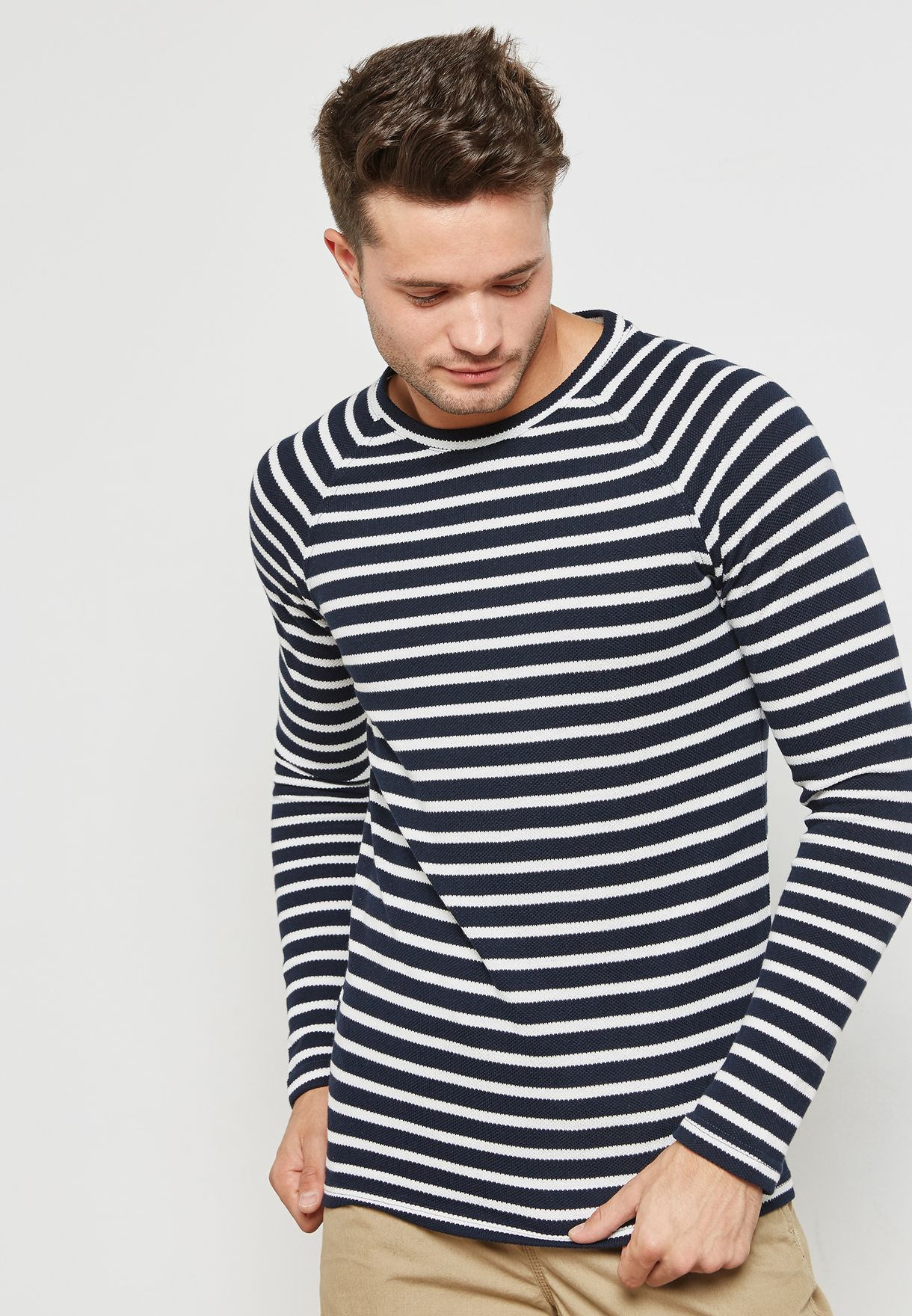 Chestnut Stripe  Sweatshirt