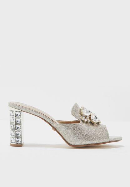 Bejewelled Glitter High Heel Sandals