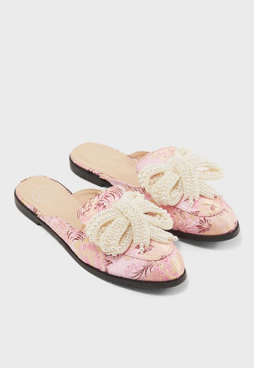 Sue Pearl Embellished Slip On