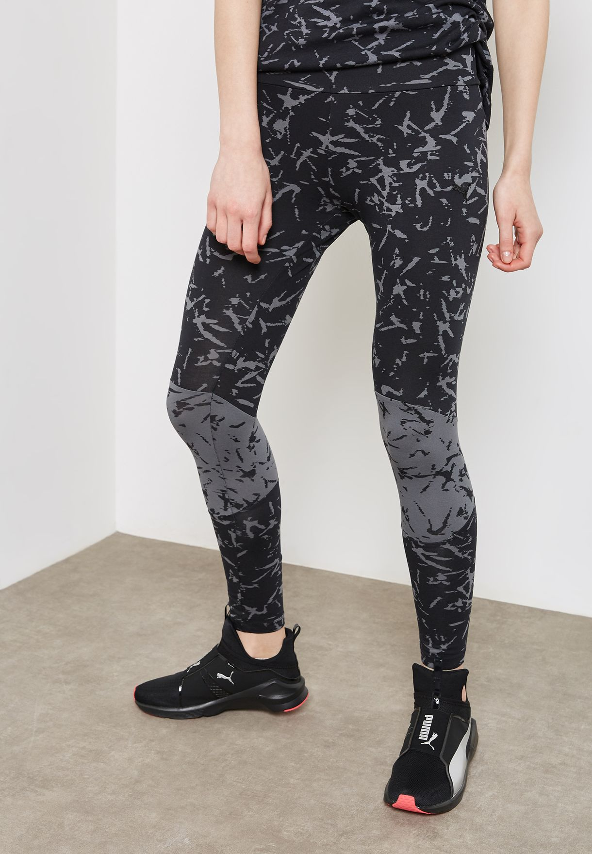 5e806ccac16620 Shop PUMA prints En Pointe Fusion Leggings 85013101 for Women in UAE -  PU020AT92YYP
