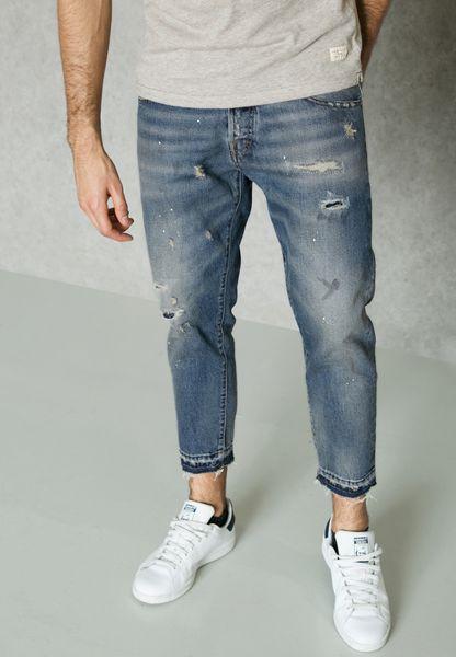 بنطال جينز باساور غير مدروزة