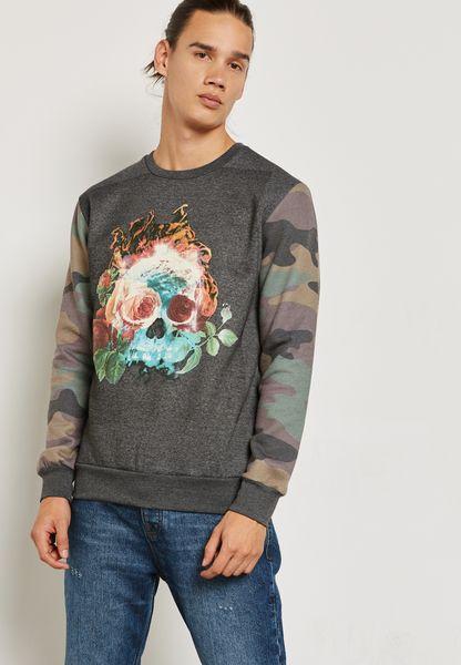 Skull Print Sweater
