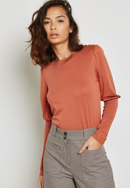 Cuffed Sleeve Top