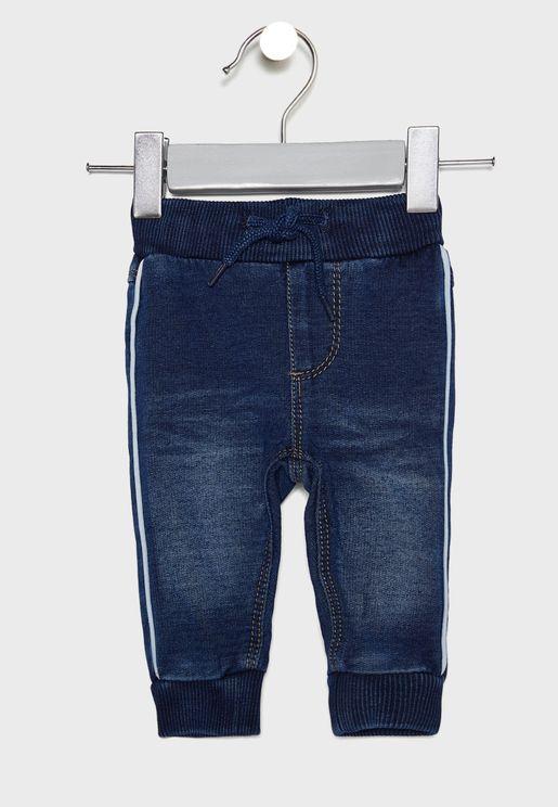 بنطال جينز بخصر مطاطي