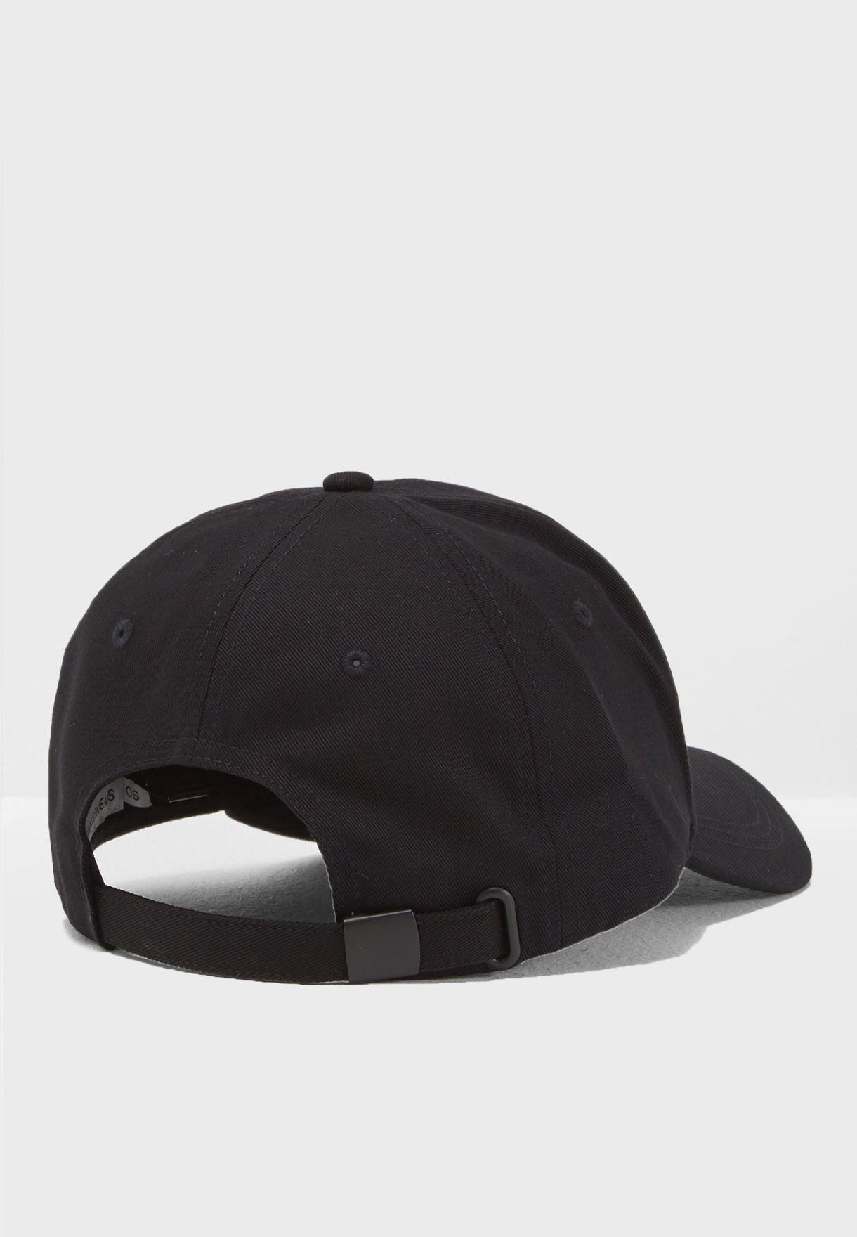 3111cbb7fbb Shop Calvin Klein Jeans black Reflective Curved Peak Cap ...