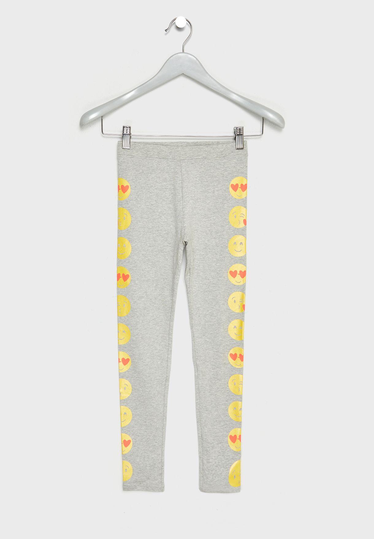 Teen Emoji Print Leggings