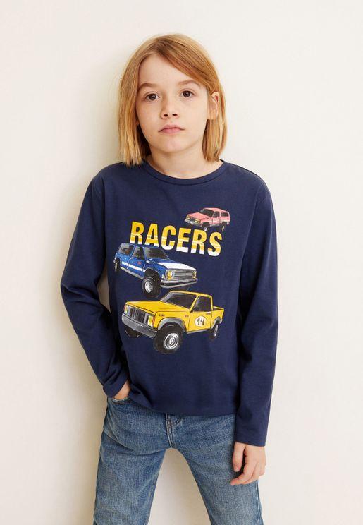 Kids Vehicle Graphic T-Shirt