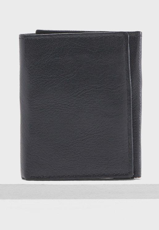 Leather Trlfold Wallet
