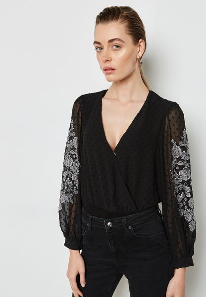 Embroidered Wrap Body