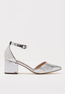 Ladies Mid Block Heel Pointy Toe Mary-Jane