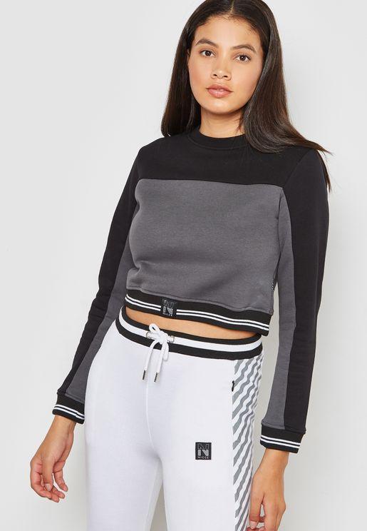 Colourblock Long Sleeve T-Shirt