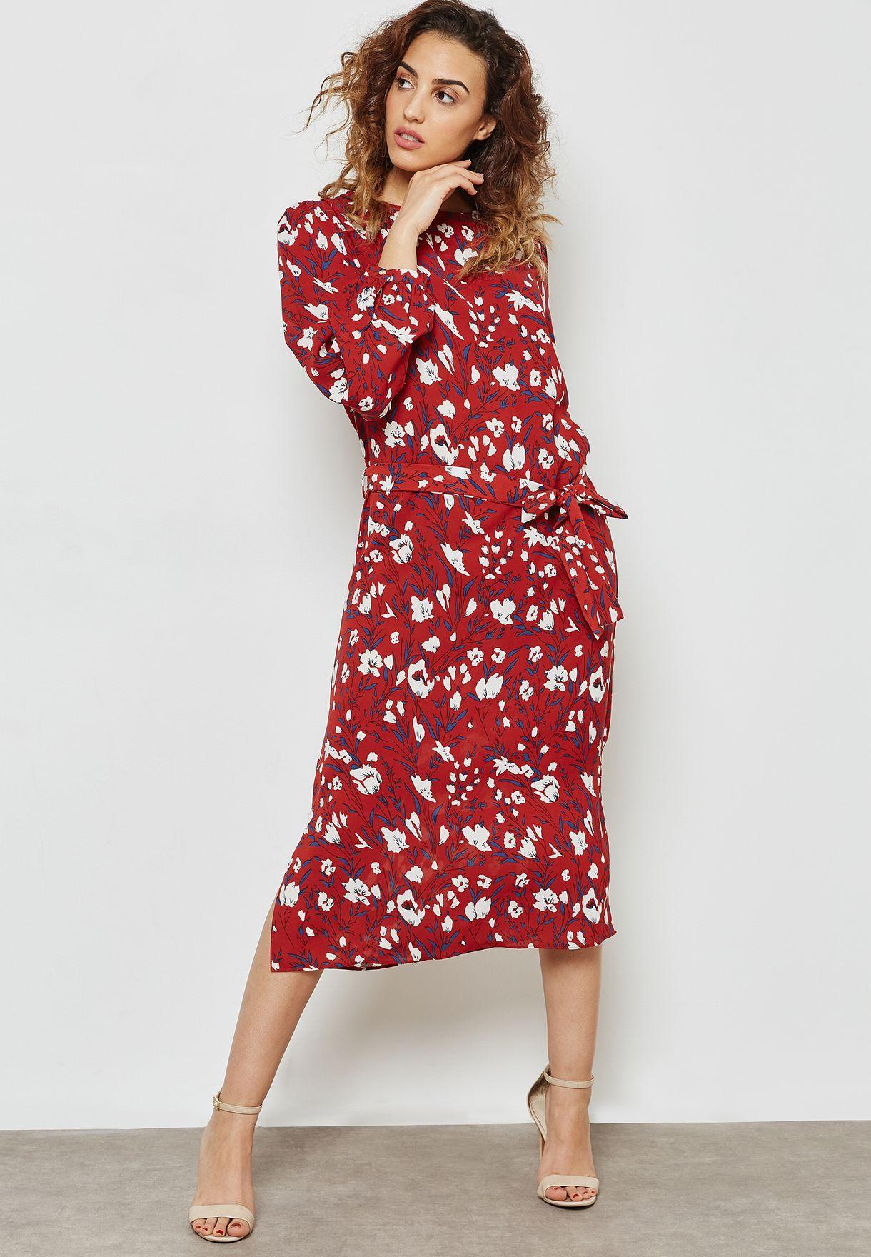 فستان مطبع وباربطة