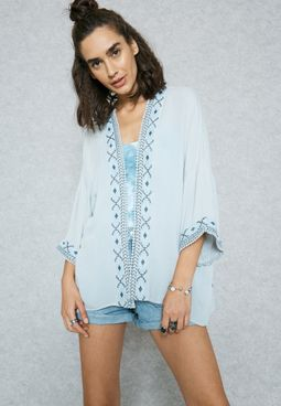 Embroidered Detail Cardigan