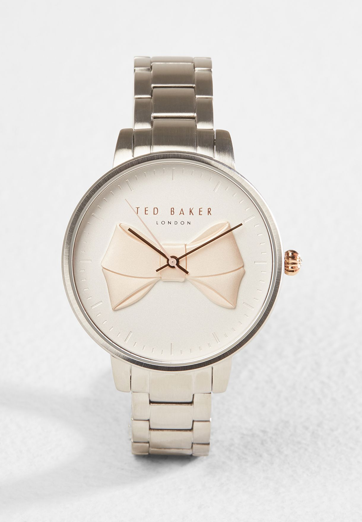 8c332018928f Shop Ted baker silver Bow face Watch T TBKTE15197004 for Women in ...