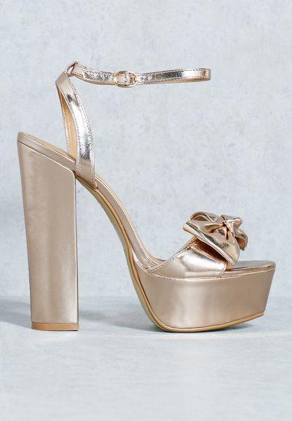 Flora Bow Platform Sandals