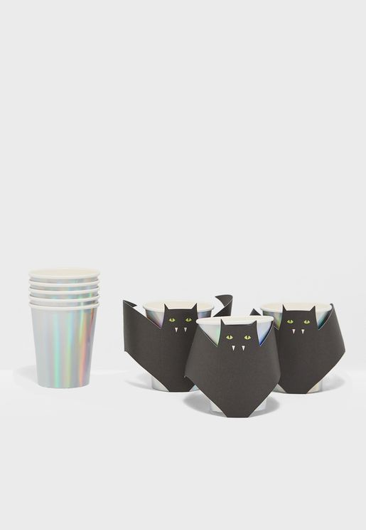Bat Cups Set of 8