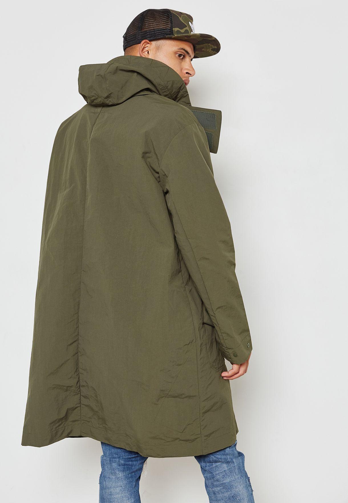 Shop adidas Originals green NMD Parka Jacket CE1598 for Men in ... a5af9ef6e44f