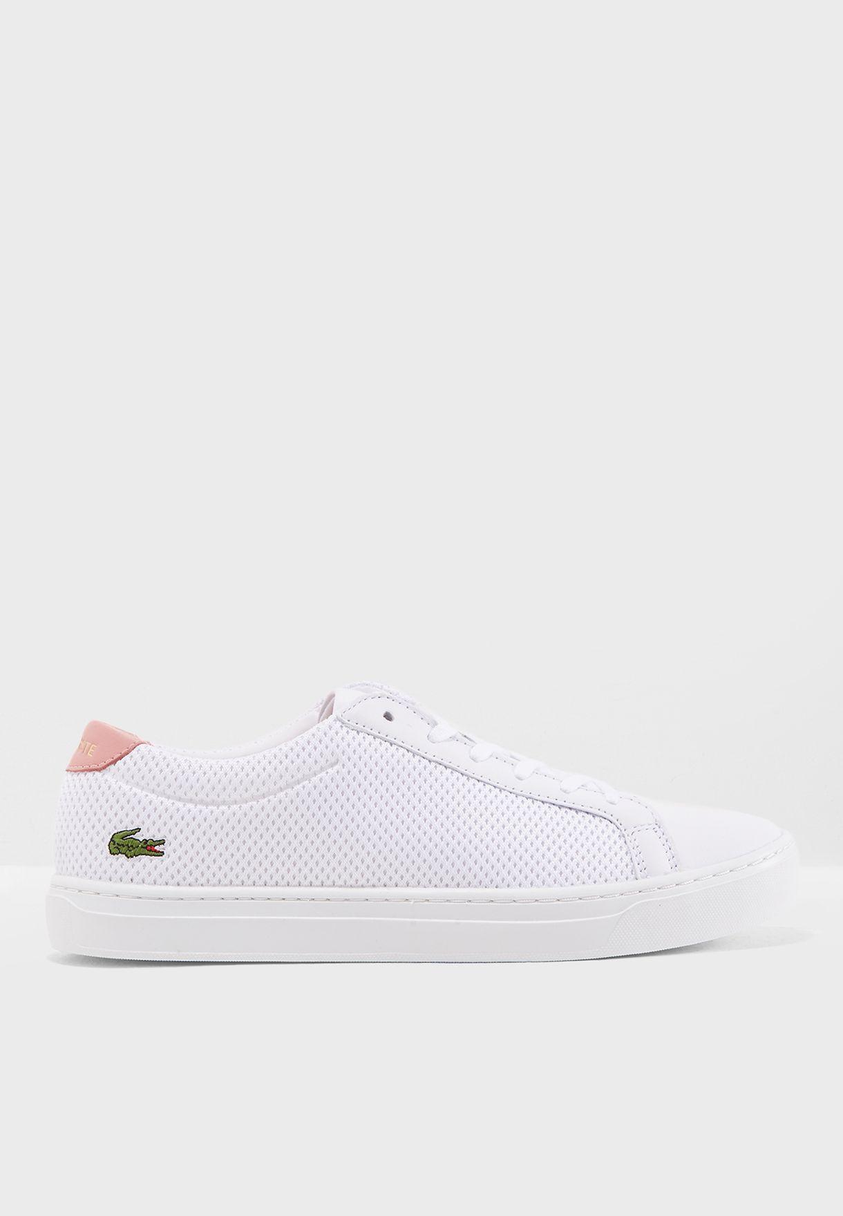 6d07230ea Shop Lacoste white L.12.12 Light-Wt 3182 Caw Sneaker 736CAW0018 for ...